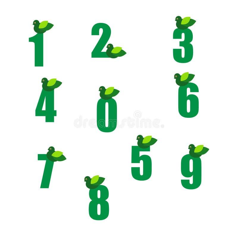 Grönt nummer royaltyfri illustrationer