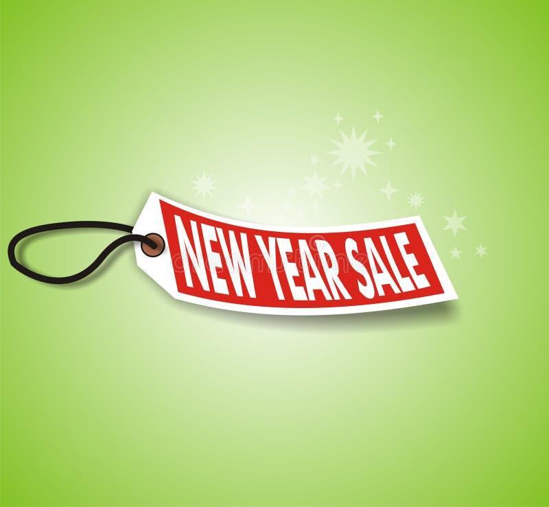 grönt nytt försäljningsår vektor illustrationer