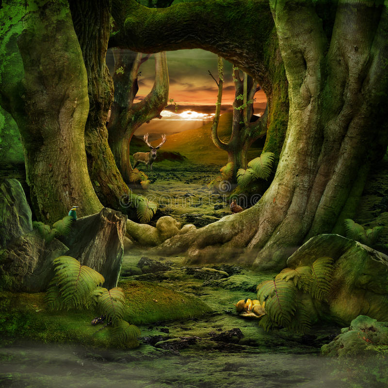 Grönt paradis royaltyfri bild