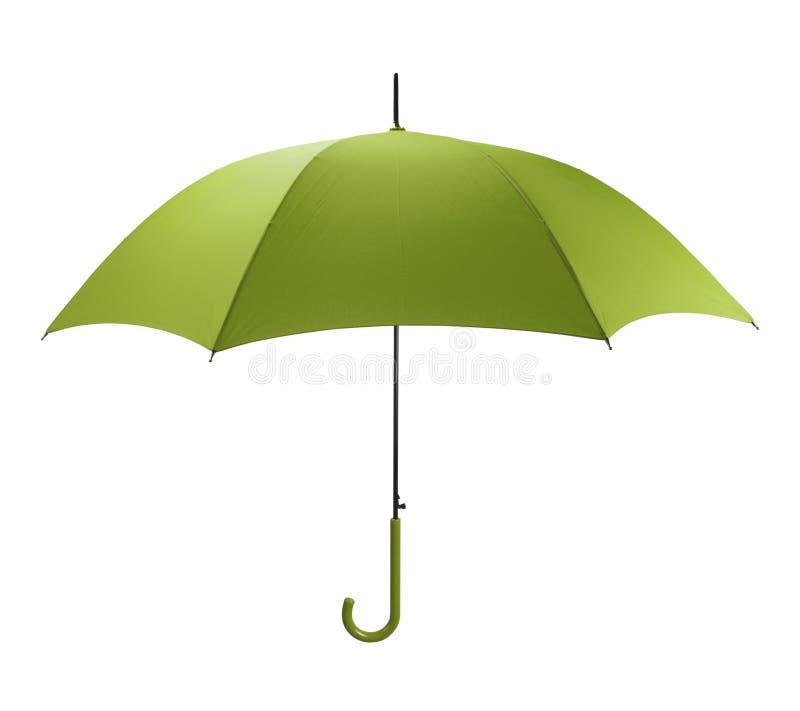 Grönt paraply arkivbild