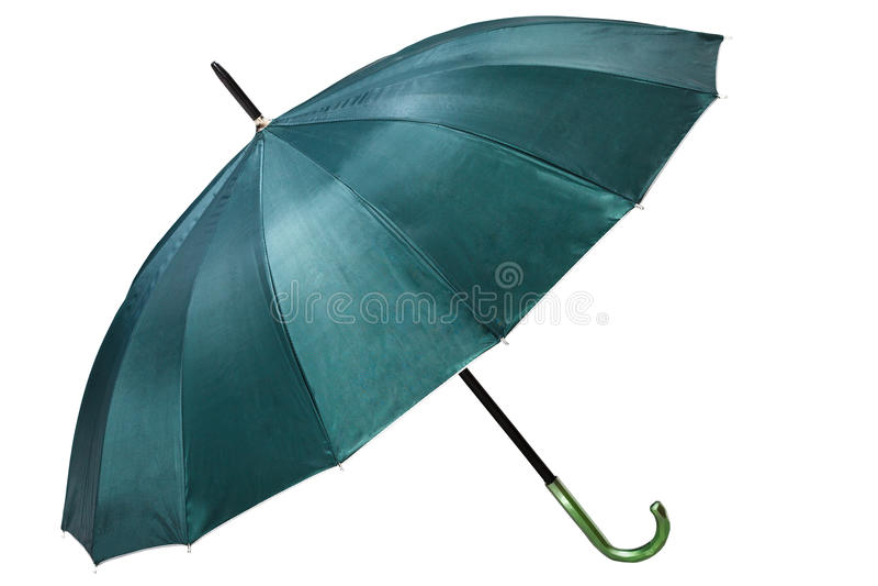 Grönt paraply royaltyfria foton