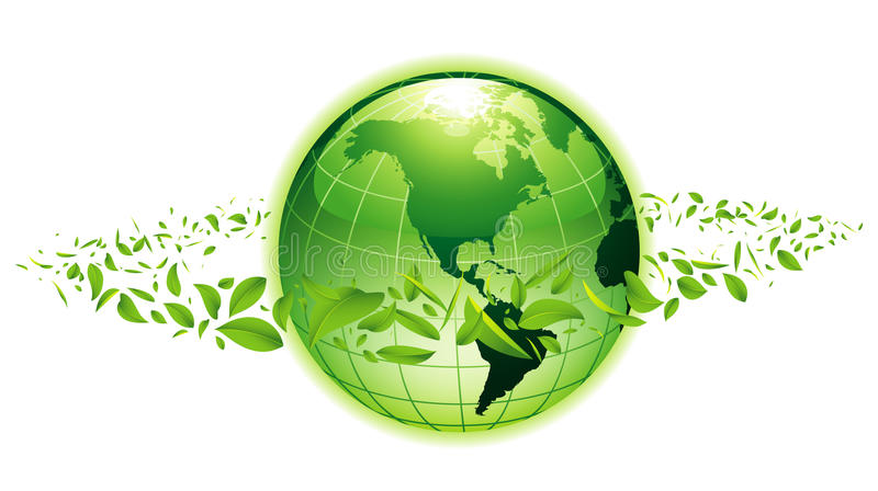 grönt planet stock illustrationer