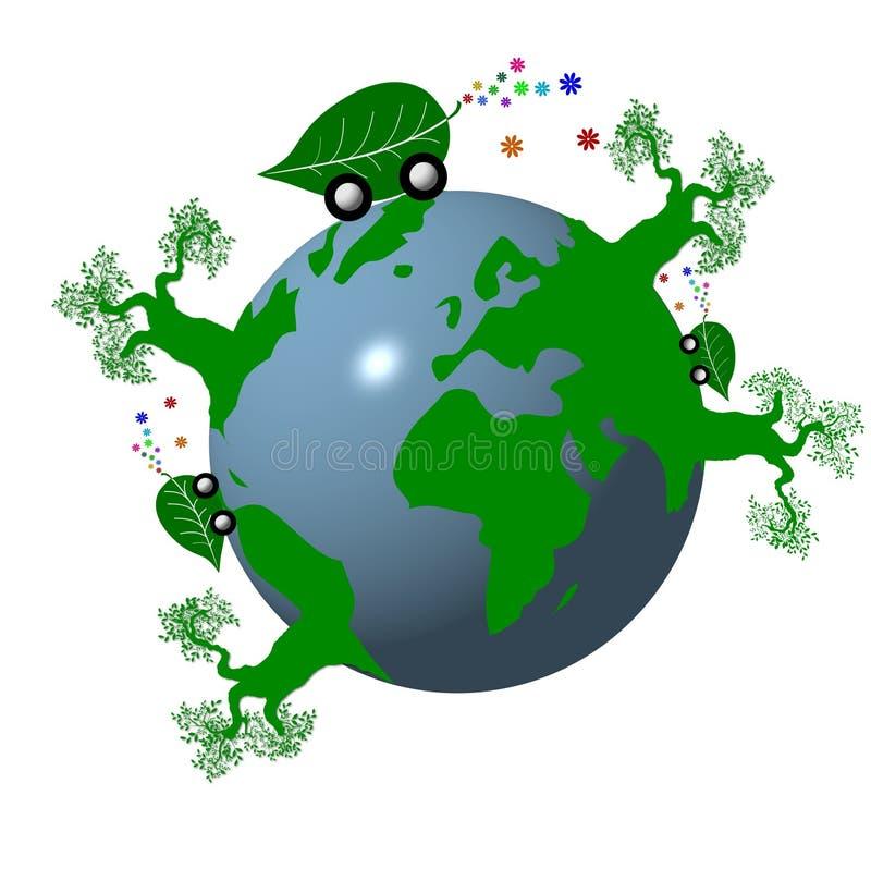 grönt planet vektor illustrationer