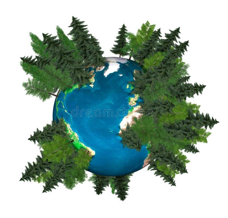 grönt planet för jord vektor illustrationer