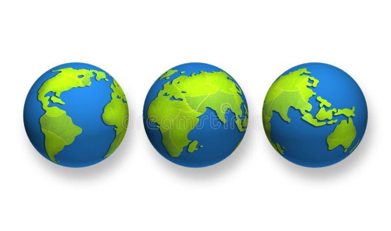 grönt planet för jordklot royaltyfri foto