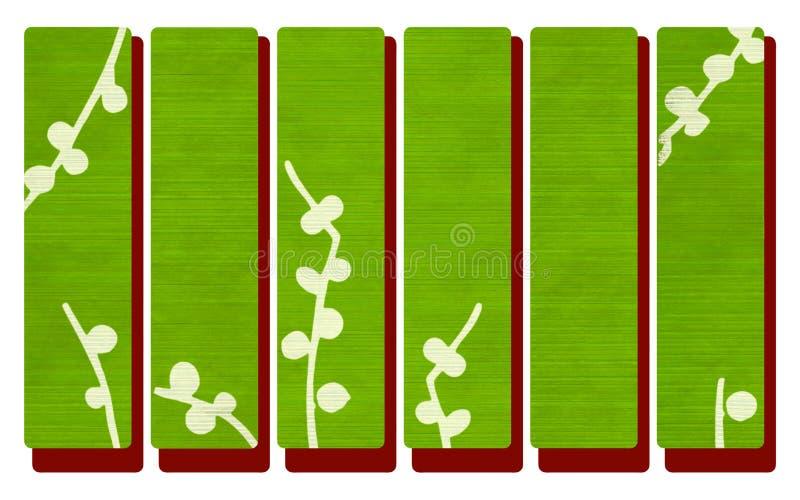 grönt rött trä för baner royaltyfri illustrationer