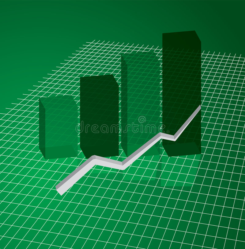 grönt raster för graf stock illustrationer