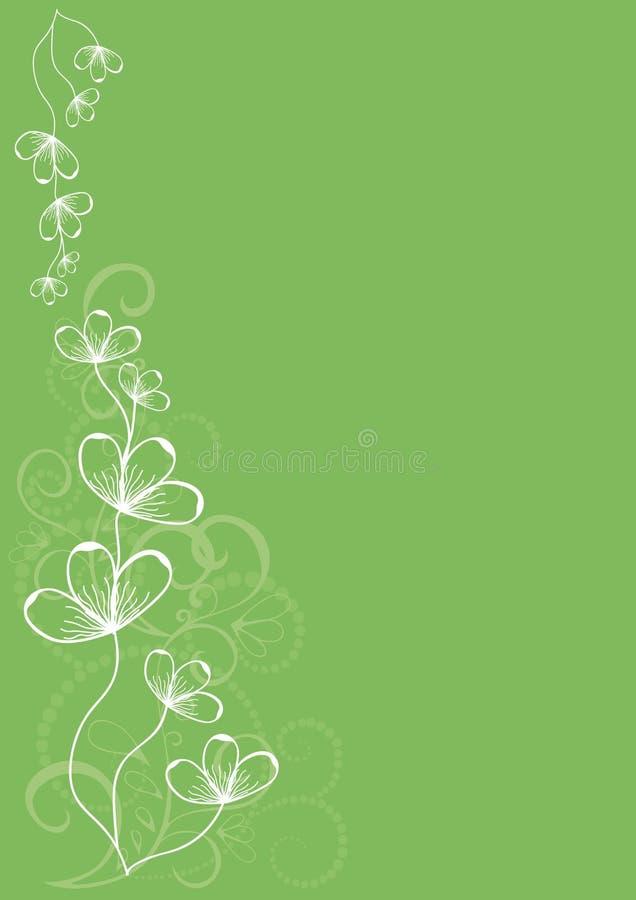 grönt retro för blomma vektor illustrationer