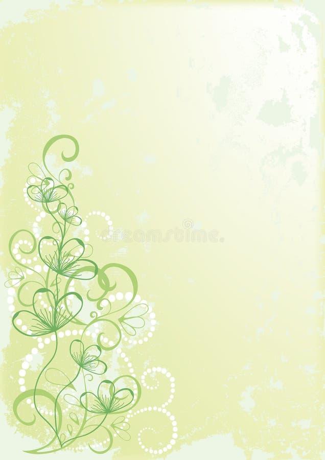 grönt retro för blomma stock illustrationer