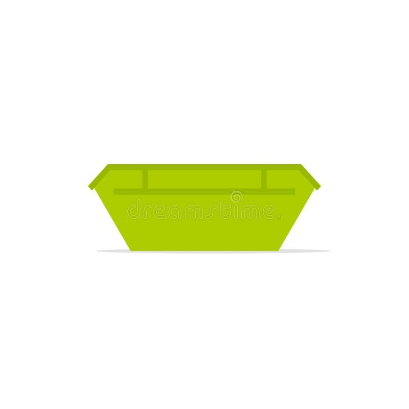 Grönt stort förlorat överhoppfack royaltyfri illustrationer