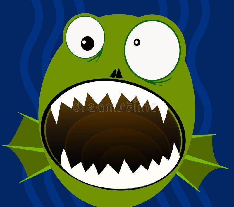 Grönt Swampmonster stock illustrationer