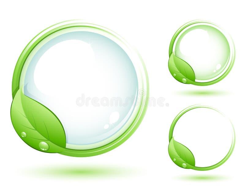 grönt symbol royaltyfri illustrationer