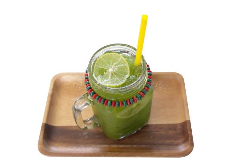 Grönt te för Matcha is fotografering för bildbyråer