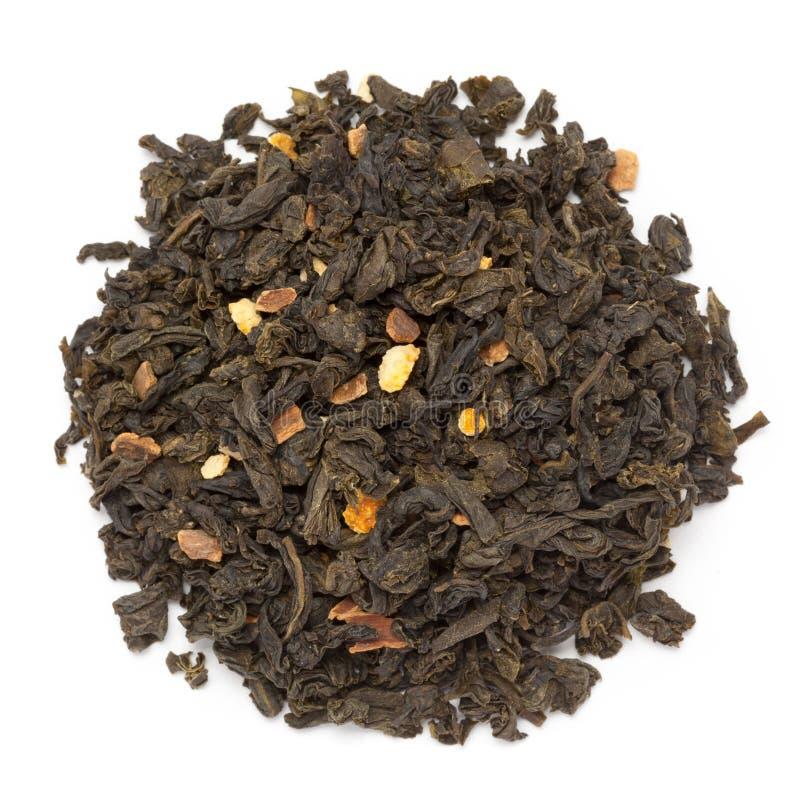 Grönt te för organisk orange sinensis för blomning citrus royaltyfri fotografi