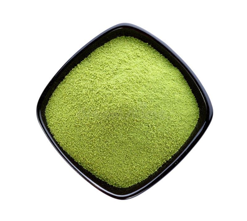 Grönt te för pulver royaltyfria bilder