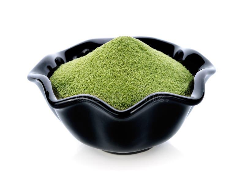 Grönt te för pulver royaltyfri fotografi
