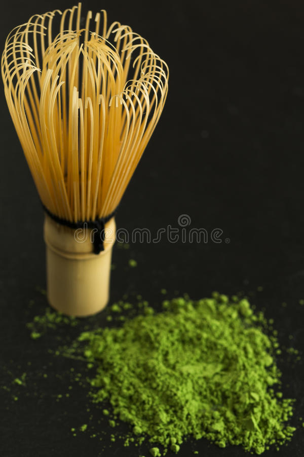 Grönt te och viftar fotografering för bildbyråer