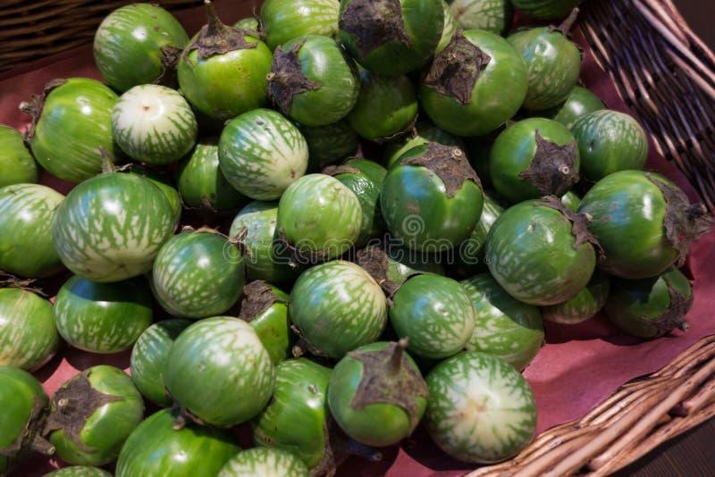 grönt thai för aubergine royaltyfri bild