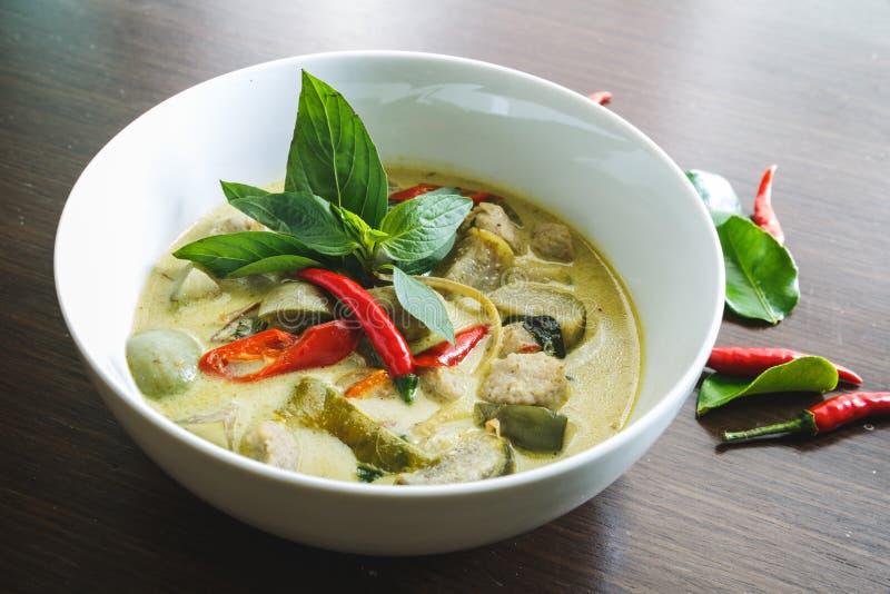 grönt thai för curry fotografering för bildbyråer