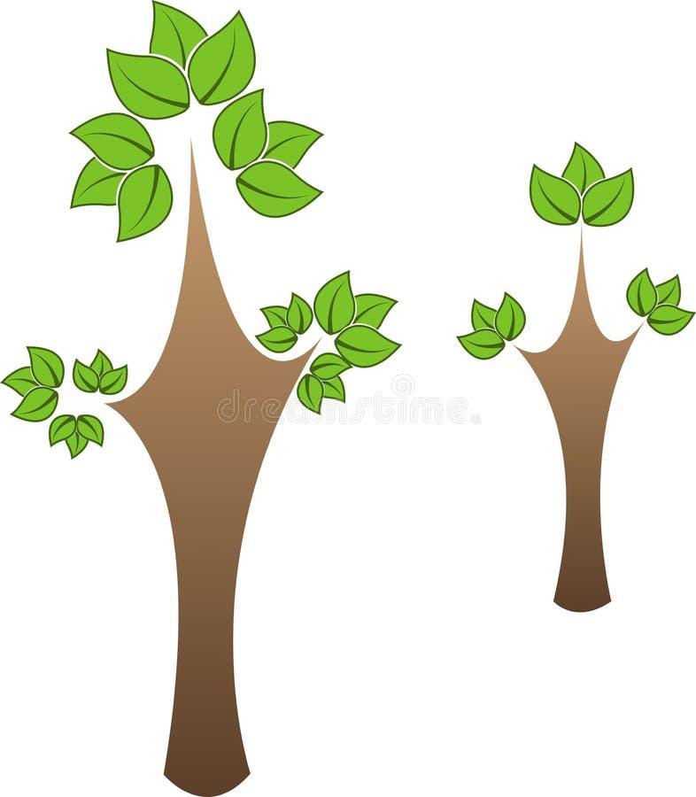 Grönt träd stock illustrationer