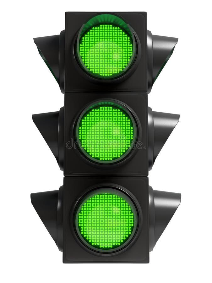 Grönt trafikljus royaltyfri foto