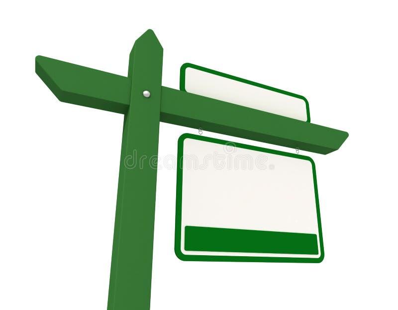 grönt verkligt för gods stock illustrationer