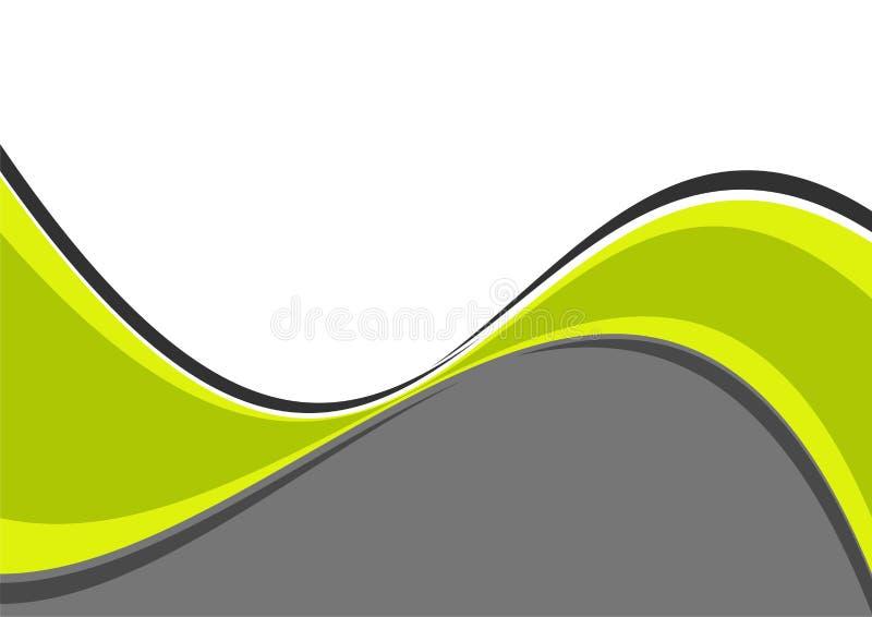 grönt wavy för kurvor vektor illustrationer