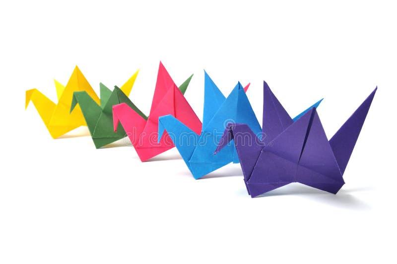 Grúa de Origami imagenes de archivo