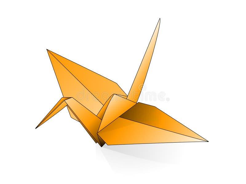 Grúa de Origami stock de ilustración
