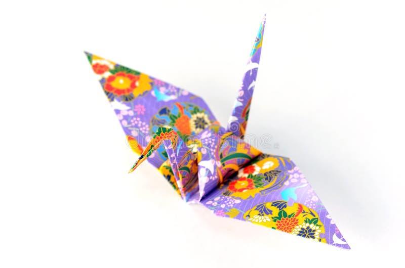 Grúa de Origami fotos de archivo libres de regalías