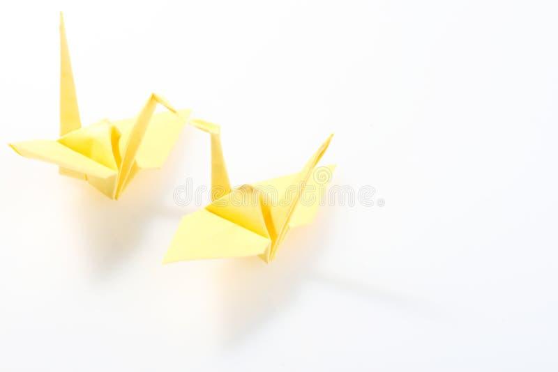 Grúa de papel imagen de archivo libre de regalías
