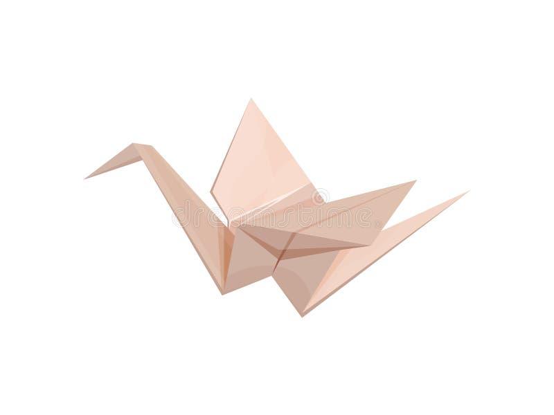 Grúa de papel en estilo de la papiroflexia Ilustraci?n del vector ilustración del vector