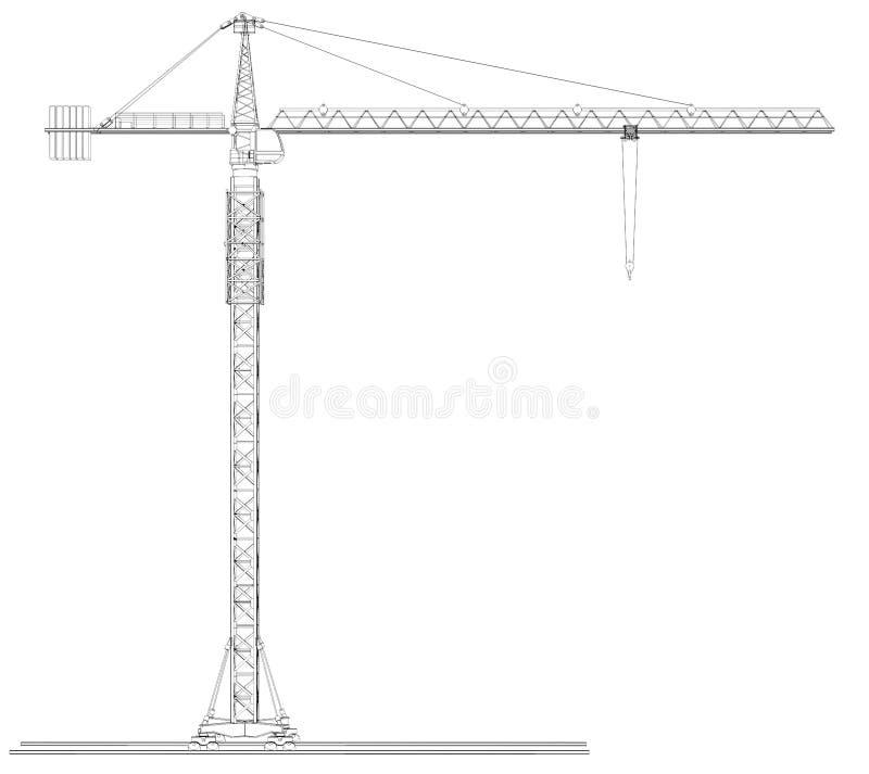 Grúa del Alambre-marco stock de ilustración. Ilustración de plan ...