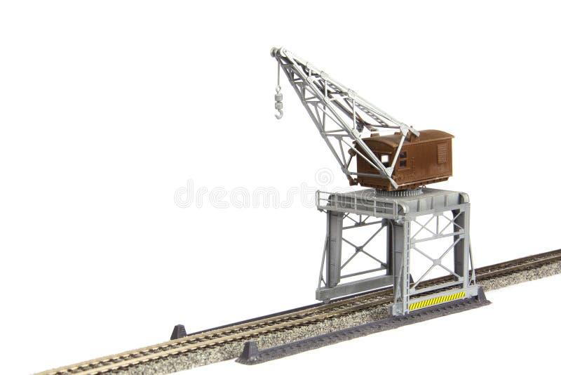 Grúa del ferrocarril del juguete imagen de archivo