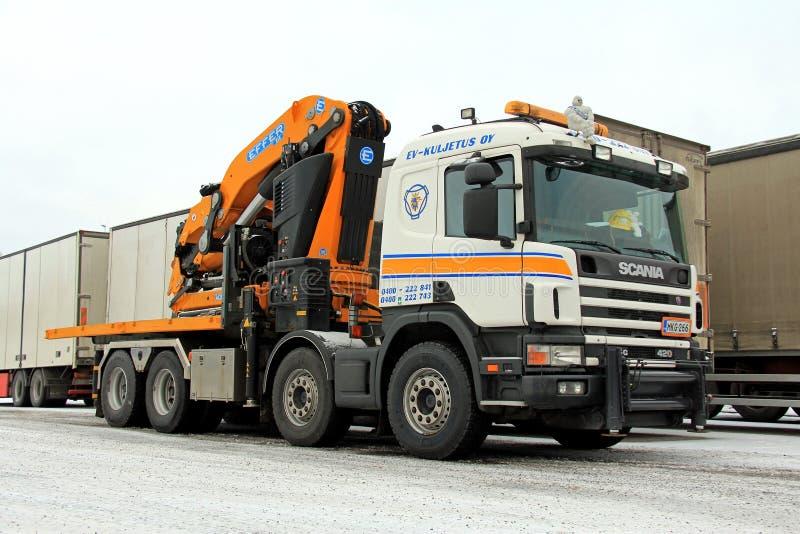 Grúa móvil de Scania G420 fotos de archivo