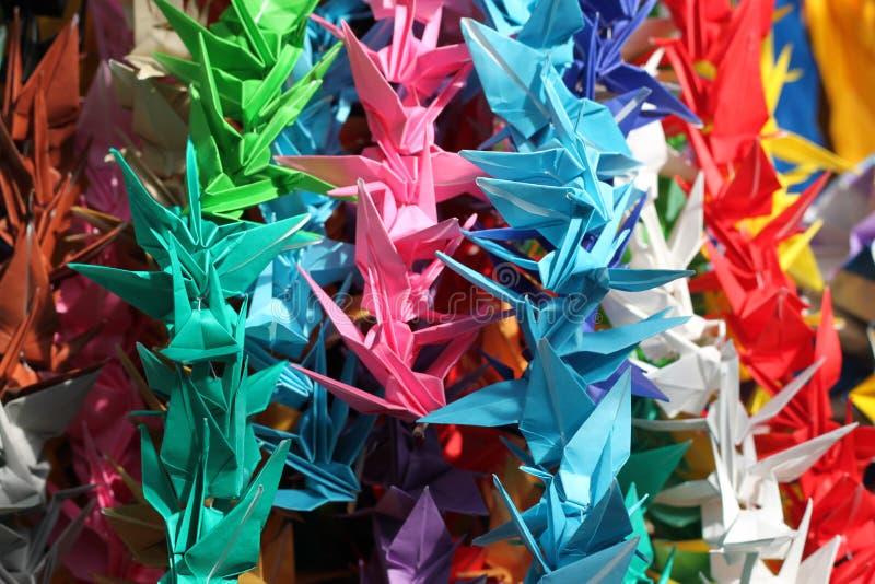 Grúas de la paz de Origami fotos de archivo libres de regalías