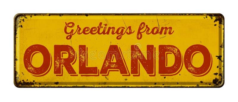 Grüße von Orlando lizenzfreies stockbild