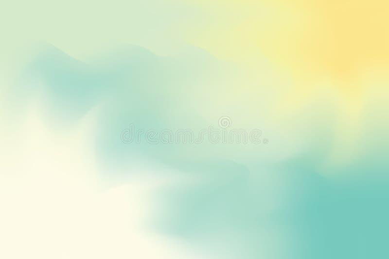 Grün-blaue weiche Farbe mischte Hintergrundmalerei-Kunst-Pastellzusammenfassung, bunte Kunsttapete stock abbildung