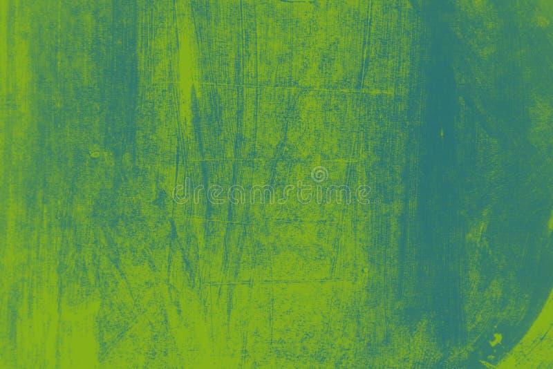 grün-blauer Pinselanschlaghintergrund vektor abbildung