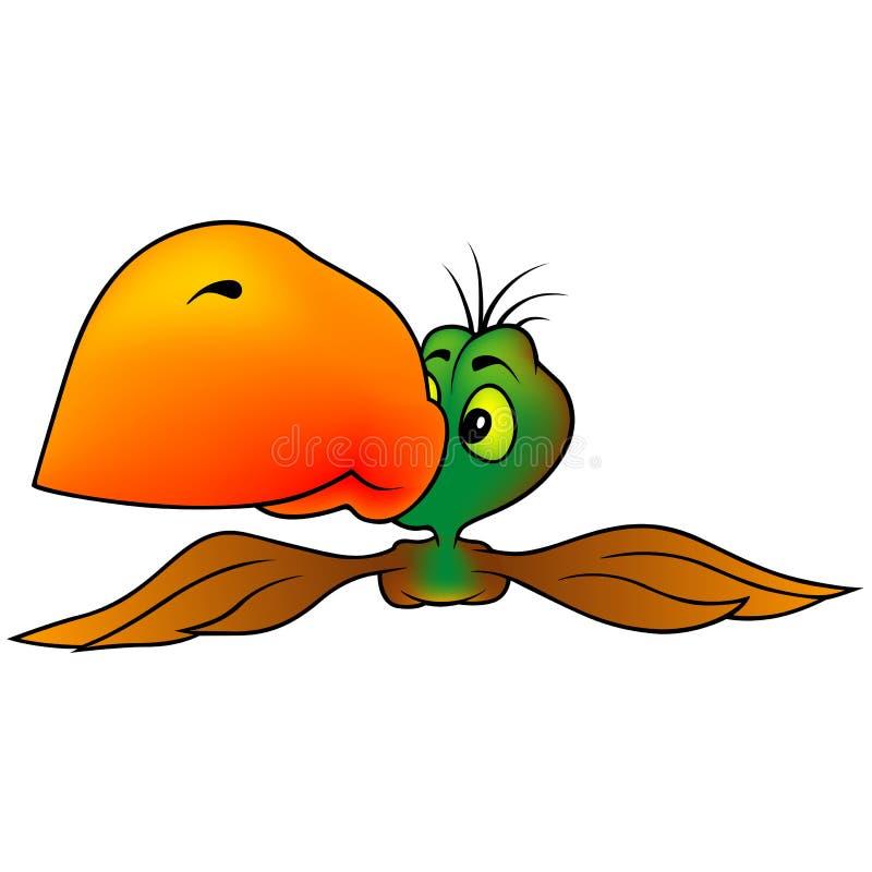 Grün-brauner Papagei Stockfoto