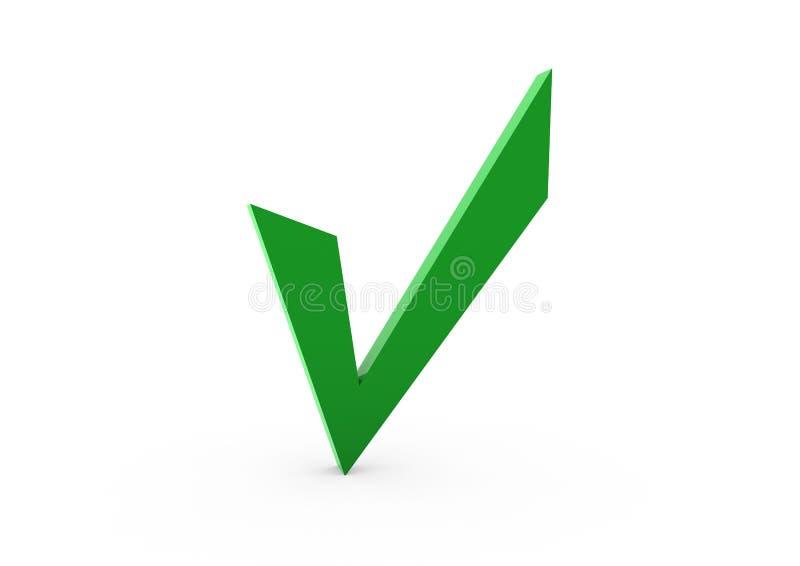Grün des Checks 3d stock abbildung