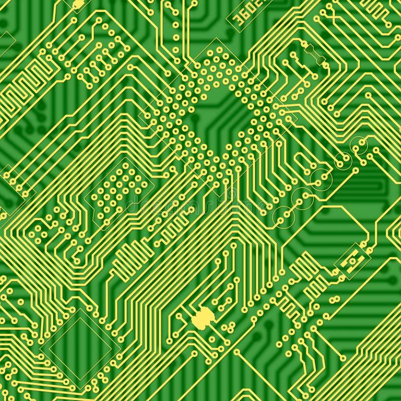 Grün gedruckte industrielle Leiterplattebeschaffenheit lizenzfreie abbildung