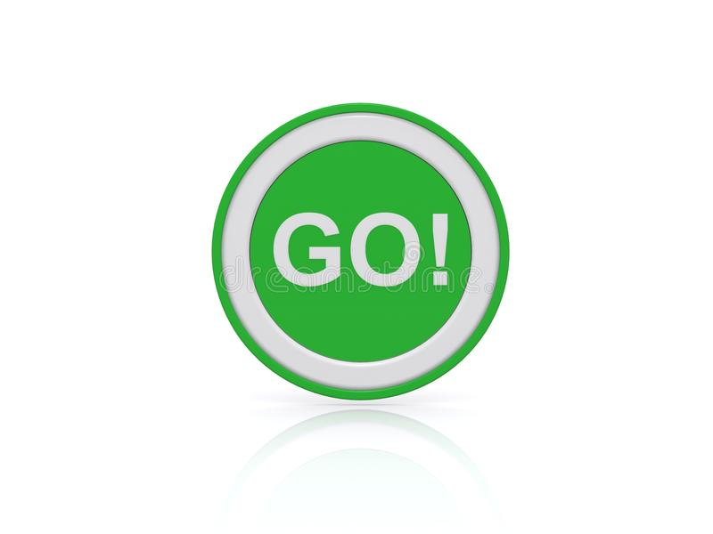 Grün gehen Knopf oder Ikone vektor abbildung