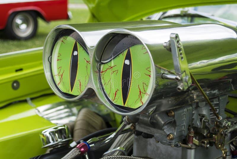Grün gemustertes Monster lizenzfreies stockfoto