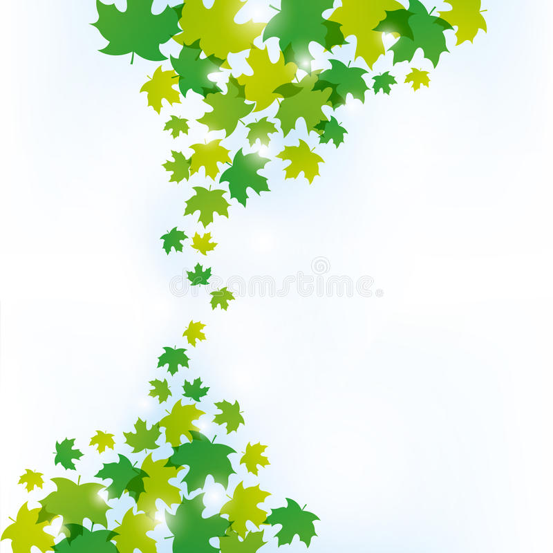 Grün lässt Hintergrund vektor abbildung