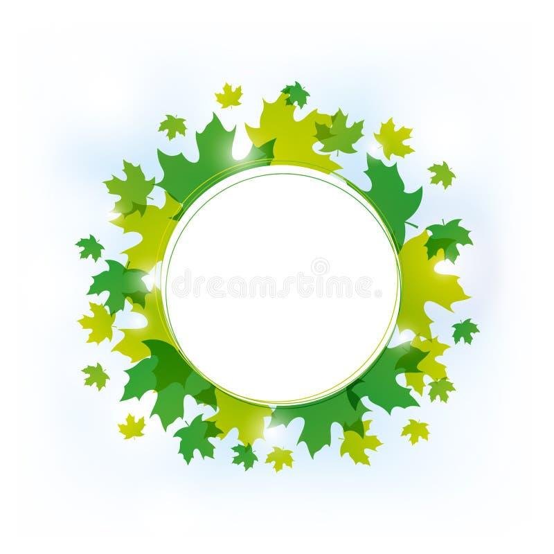 Grün lässt Hintergrund stock abbildung