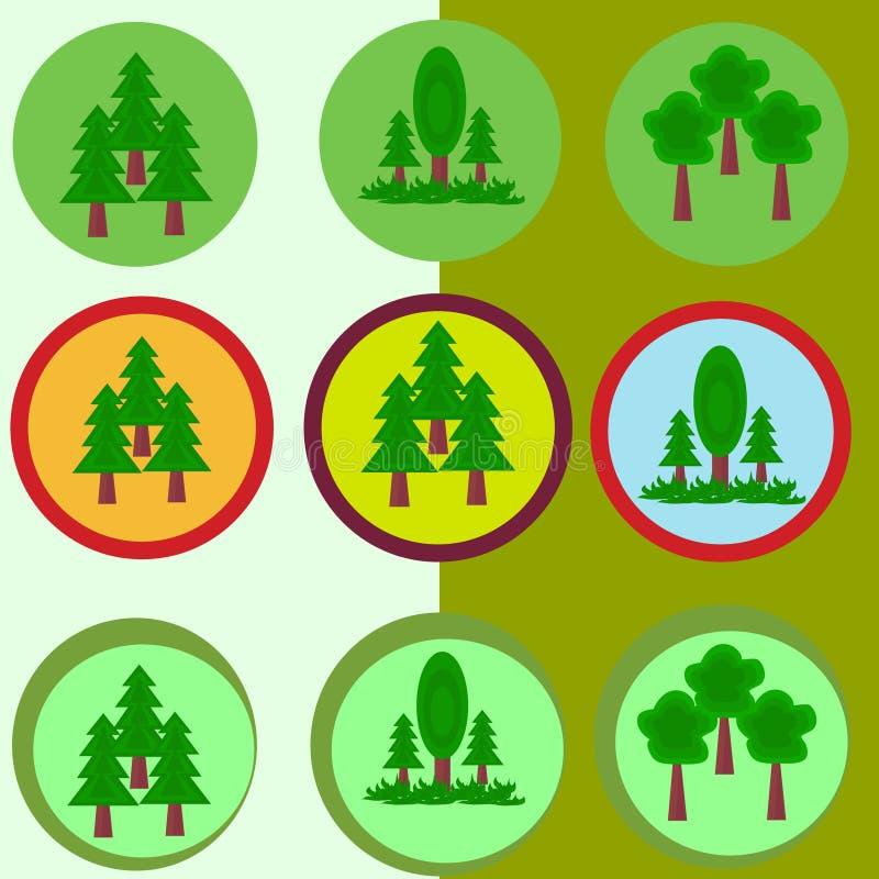 Grün lässt Ikone lizenzfreie stockbilder