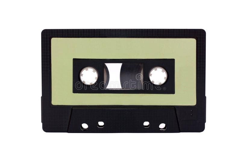 Grün - schwarze kompakte Kassette getrennt stockfotografie