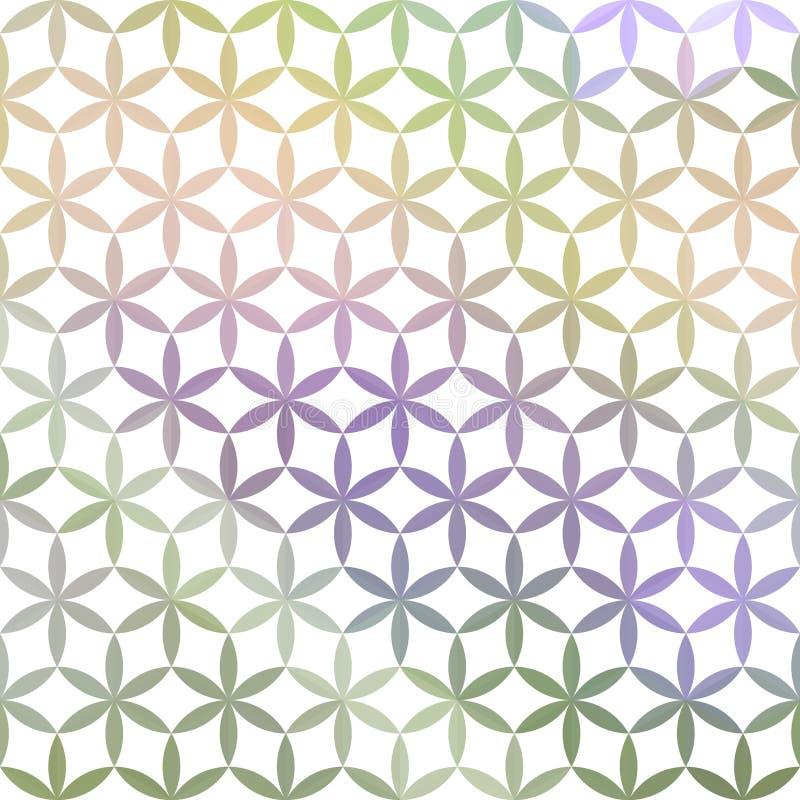 Grün und defocused Pastellhintergrund des Lavendels stock abbildung