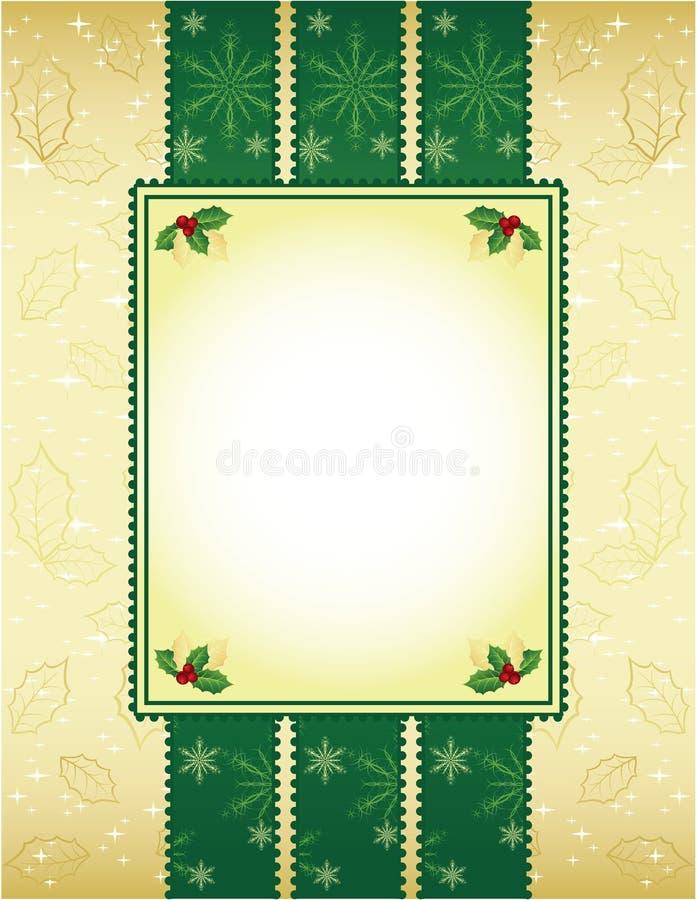 Grün und Goldweihnachtshintergrund vektor abbildung